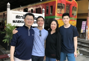 Dennis Foo and Irene Chan with their sons.